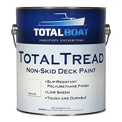 (TotalBoat TotalTread Non Skid Deck Paint (White, Gallon))