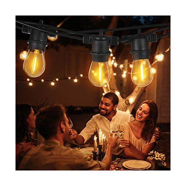 Tomshine E27 Catena Luminosa Lampadina LED Kit Luci Stringa LED E27 IP65 16M/15+2LED 3 spesavip