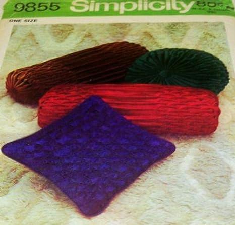 Amazon.com: Simplicity 9855 Smocked almohadas cojín patrón ...