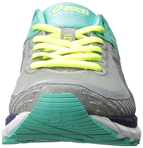 Asics Womens Gel-Kinsei 6 Running Shoe Light Grey/Titanium/Mint