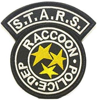 Cobra Tactical Solutions Resident Evil S.T.A.R.S Racoon Police DEP Parche Bordado Táctico Moral Militar con Cinta adherente de Airsoft Paintball para Ropa de Mochila Táctica (Negro): Amazon.es: Hogar