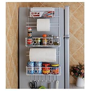 SHENGXIA Fridge Multifunctional Kitchen Bottle Storage Refrigerator Side Wall Hanging Storage Rack 5-Tier