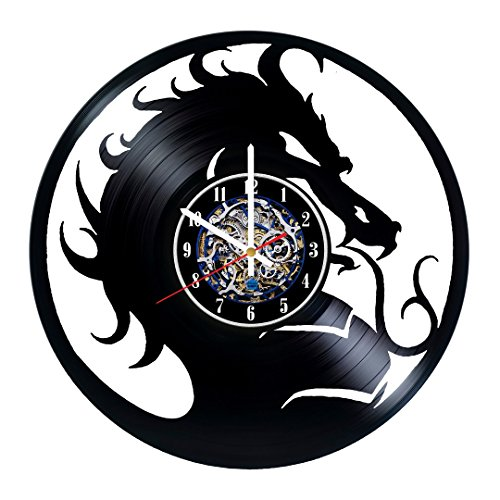 Video game logo design vinyl record wall clock. Original gift for friends, parents or youth. Perfect modern home & office decoration idea. (Disney Photo Album 2011)