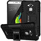 TARKAN Hard Armor Hybrid Rubber Bumper Flip Stand Rugged Back Case Cover For Coolpad Note 3 [Black] (Will not fit Coolpad Note 3 Lite )