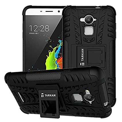 best website 82385 5d59b TARKAN Hard Armor Hybrid Rubber Bumper Flip Stand Rugged Back Case Cover  For Coolpad Note 3 [Black] (Will not fit Coolpad Note 3 Lite )