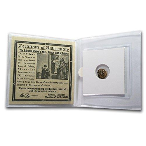 Widows Mite Bronze Coin - 103 IL Widow's Mite In Standard Folder (103-76 BC) Bronze Very Fine