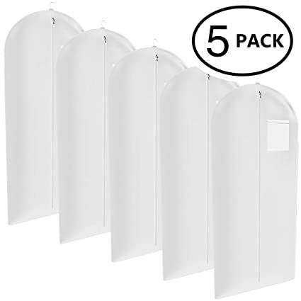 8dd810867a91 White Suit, Dress and Gown Garment Travel Bags 5 Pack - 54
