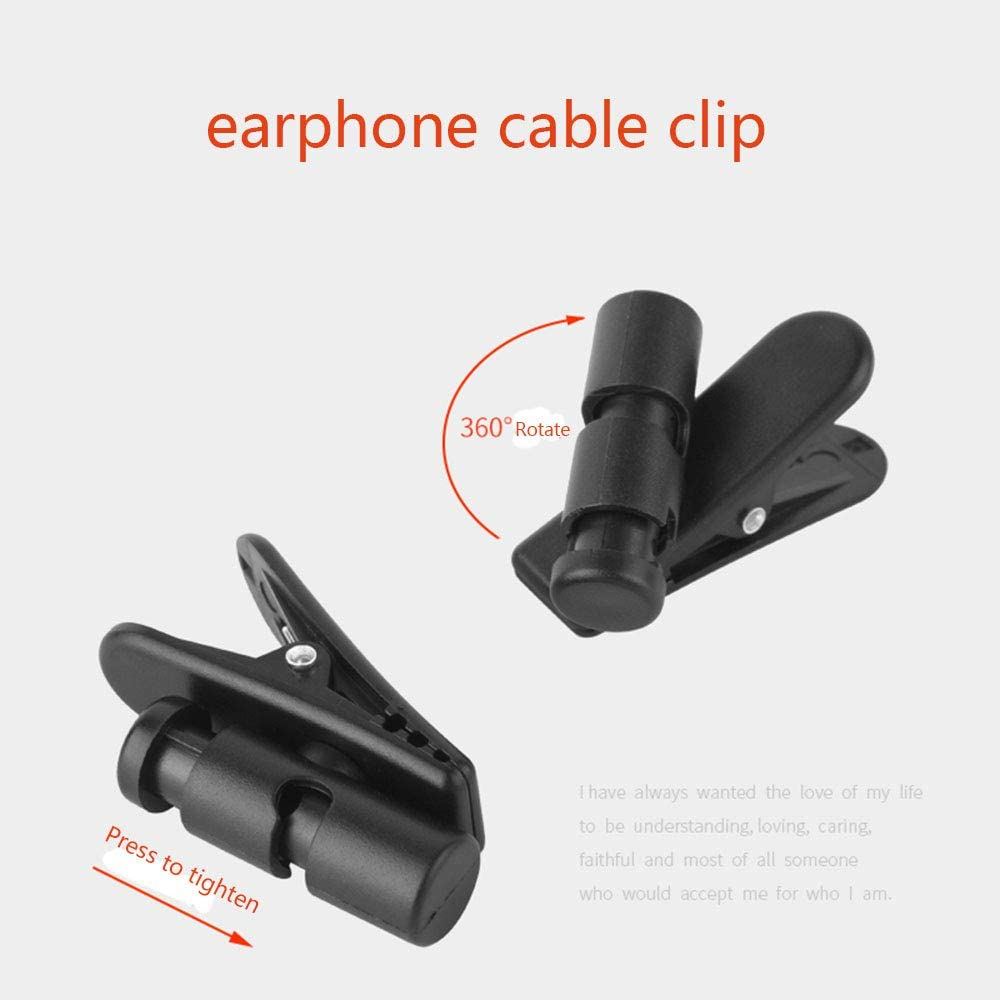 Sennheiser Bose,JBL,Jaybird,Jabra,MEE Audio,RHA,Bang /& Olufsen,Plantronics,1MORE,CCA,KZ,Fiio,Denon,Audio Technica Earphone Cord Clip,360 Degree Rotate Headphone Mount Cable Clothing Clip for Sony