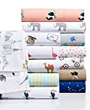 Whim by Martha Stewart Collection Novelty Print Cotton Percale California King Sheet Set Impression Stripe