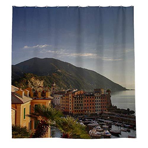 (kimove Shower Curtain, Digital Printing, Waterproof, Hooks Included(genoa-4141143))