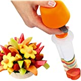 Adeeing Vegetable Fruit Shape Cooking Cutter Creative Kitchen Pop Chef Tools Slicer Food Maker for Festival Party Holiday Wedding Mold Set (Circle Heart Flower Butterfly Sun Star Shape)