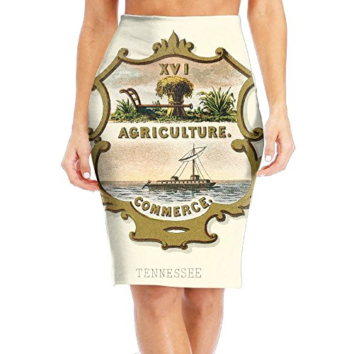 (Tennessee State Coat of Arms Women's Fashion Printed Pencil Skirt)