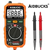 Aidbucks MS8232 Digital Multimeter Auto Ranging Non Contact Voltage Detector Electrical Multi Circuit Volt Ohm Tester AC/DC Battery Tester Ammeter Voltmeter Current Continuity Resistance Test Meter