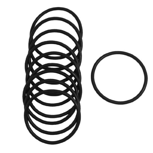 3 Piece Seal (Uxcell Rubber Sealing Oil Filter O Rings Gasket (10 Piece), Black, 3mm x 51mm)