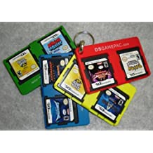 DS Gamepac Holder Set of 4 with free carabiner and Free Shipping! holds 8 games
