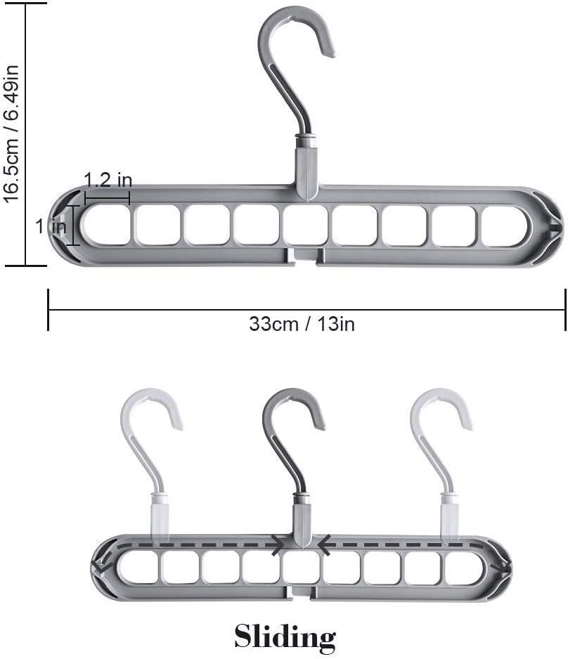 4PCS Platzsparende Kleiderb/ügel Cascading Hanger Multifunktionale Fold Hanger Closet Platzsparende Innovative Design Closet Organizer Hanger Tapusen Magic Hanger