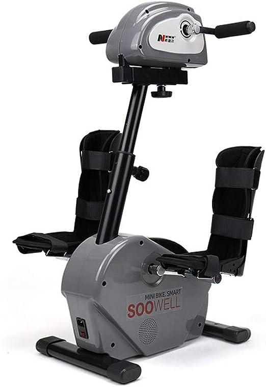 Bicicleta De Rehabilitación Electrónica De Fisioterapia Para Personas Mayores Entrenamiento De Ejercitador De Pedal Mano Brazo Pie Pierna Rodilla Asistencia Pasiva Modo De Espasmo De 180 Vatios: Amazon.es: Hogar