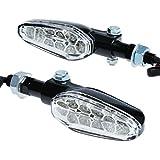 【ウィンカー】 LEDリボルバーウインカー (ブラック/クリア) ZRX1200R CB1300SF XJR1300 V-MAX GPZ900R CB40...