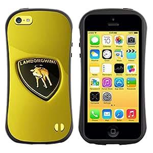 Fuerte Suave TPU GEL Caso Carcasa de Protección Funda para Apple Iphone 5C / Business Style Sports Car Bull Italian Racing Super