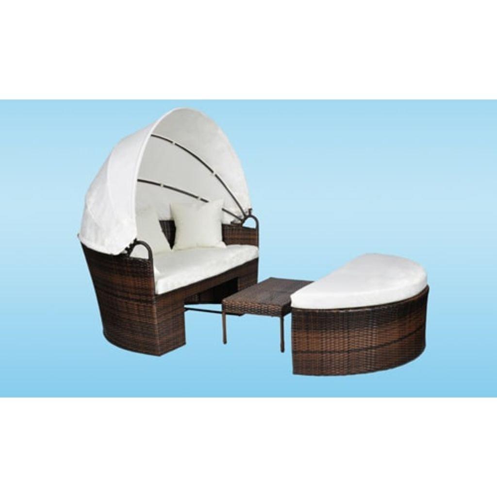 Rattan Sonneninsel Lounge Bett Liege Strandkorb Relaxinsel Korb ...
