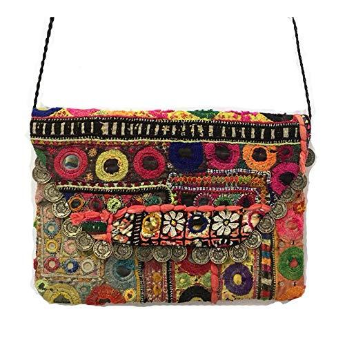 Indian Tribal Banjara Clutch Bag Gypsy Handmade Ethnic Embroidery Vintage Banjara Clutch