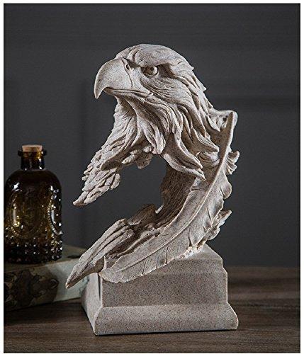American Freedom's Eagle Statue Home Office Decor Figurine Eagle Sculpture Gift (Sandstone) ()