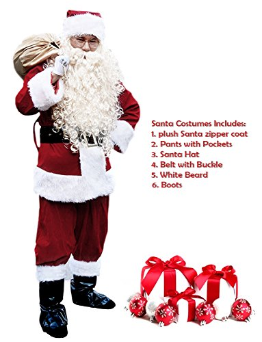 Santa Suit Menu0027s Adult Christmas Santa Suit Costumes Holiday Cosplay Cute Costumes Outfits Vintage Plush 6  sc 1 st  Christmas Gifts u0026 Decorations at Christmasable.com : santa crawl costume ideas  - Germanpascual.Com