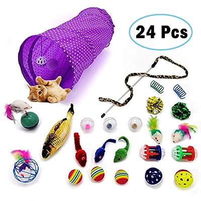 Kitten Toys LKEX 24PCS Cat Toys Interactive Kitten Toys Assortments, Cat...