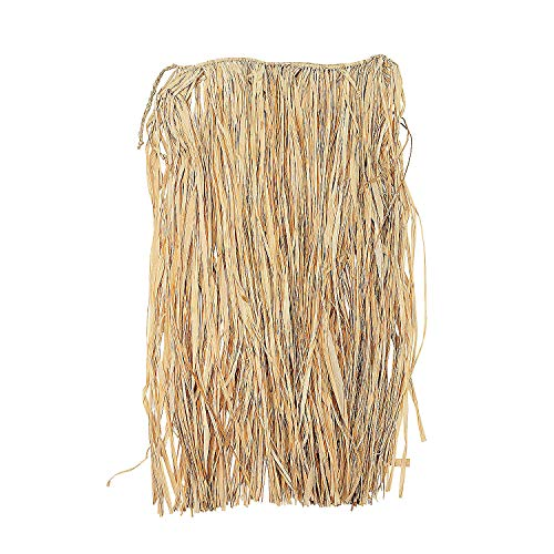 Fun Express - Natural Raffia Adult Hula Skirt for Party - Apparel Accessories - Luauwear - Hula Skirts - Party - 1 Piece ()