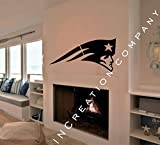 NCAA New England Patriots Decal Vinyl Sticker mural graphics home decor man cave NFL fan room sports customization