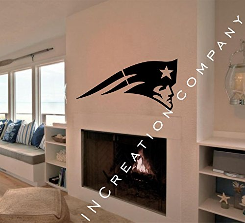 NCAA New England Patriots Decal Vinyl Sticker mural graphics home decor man cave NFL fan room sports customization by INCreation Company (Image #3)