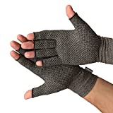 Medipaq Anti-Arthritis Gloves (Pair) - Providing Warmth And Compression To Help Increase Circulation Reducing Pain And Promoting Healing 1X Pair With Grip (Medium)