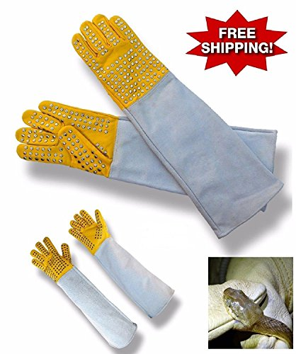 (ARD-Champs Heavy Duty Snake Handling Gloves with Stainless Staples and Thick Leather)