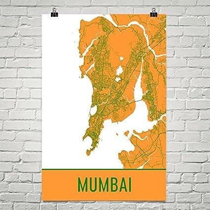 Amazoncom Mumbai Poster Mumbai Art Print Mumbai Wall Art Mumbai