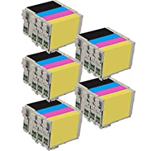 5 Set of 4 Inkfirst® 127 Ink Cartridges Compatible Remanufactured for Epson 127 Black, 127 Cyan, 127 Magenta, 127 Yellow (High Capacity) WorkForce WF-7510 WF-7520 WF-7010 545 60 630 633 635 645 840 845 Stylus NX530 NX625 T1271, T1272, T1273, T1274
