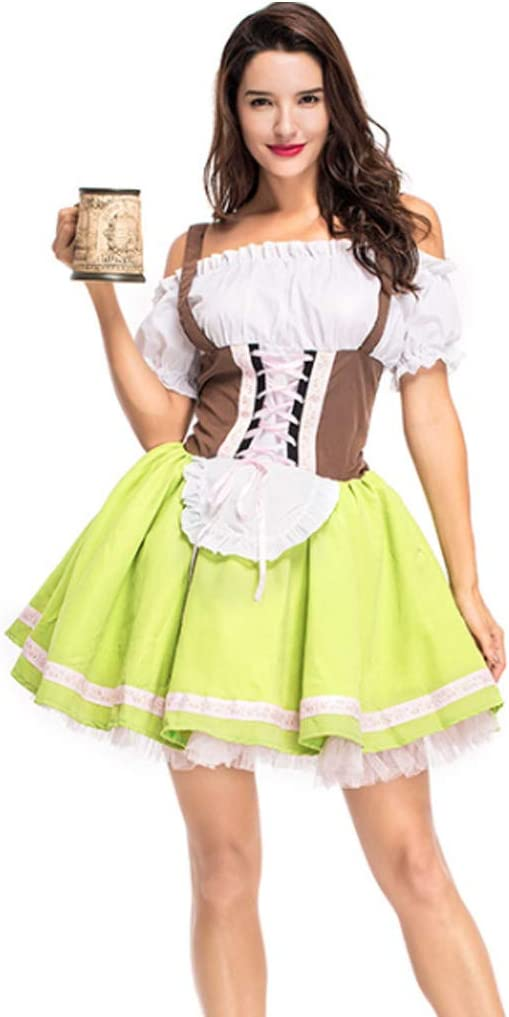 WuLi77 disfraz de festival de cerveza alemana de Halloween, 2 ...