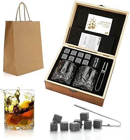 🍎 REGALO PARA HOMBRES: las piedras de whisky son populares entre los amantes de las bebidas. Es una