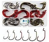 150Pcs/box Worm Senko Bait Jig Fish Hooks 2X Strong Fishing Hooks Set High Carbon Steel Worm Jig Fishing Hook with Box
