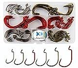 JSHANMEI ® 150pcs/box 7316 2X Strong Fish Hooks High Carbon Steel Worm Hooks
