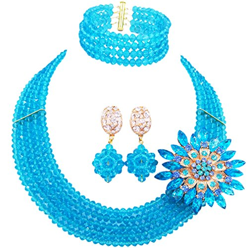 laanc Fashion Lady Jewellery 5 Rows MultiColor Crystal