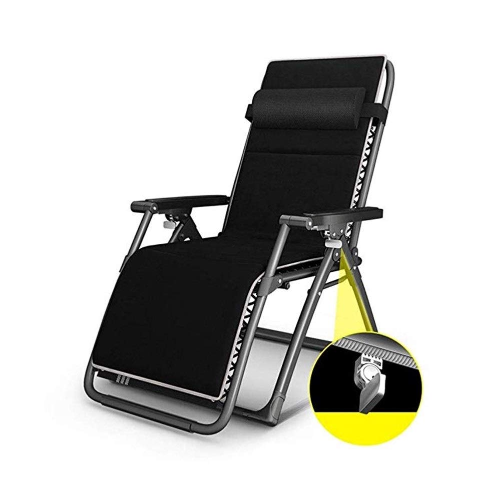 YYTLTY Household Leisure Chair,Foldable Garden Lounge Chair,Backrest Chair Outdoor Beach Chair,Suitable for Indoor and Outdoor Use,Available in Two Styles (Color : Black) by YYTLTY