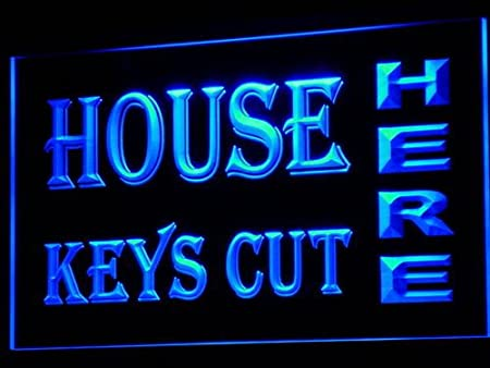 ADVPRO Cartel Luminoso i651-b House Keys Cut Here Open Neon ...
