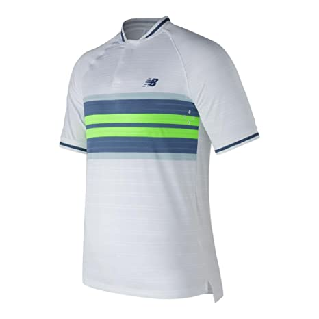 NEW BALANCE - Tournament Henley Hombre Tenis Polo, color weiß ...