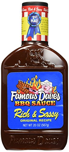 Famous Dave's BBQ Sauce, Rich & Sassy, Original Recipe,20 oz, (pack of 2) -