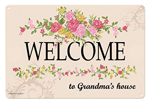 Grandma Gifts Welcome to Grandma's House Metal Decorative Sign Home Decor Kitchen Sign Novelty Sign (Home Decor For Grandma)