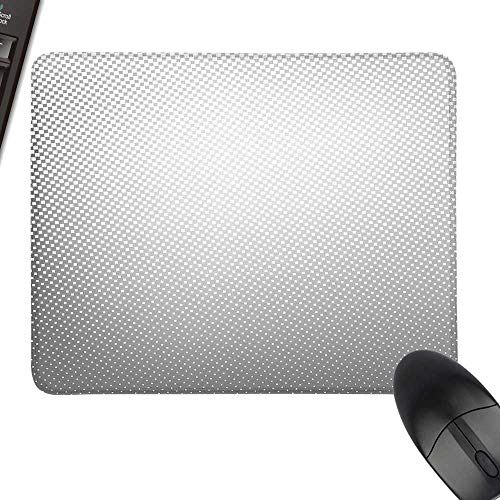 (Grey Rectangle Mouse Pads Artsy Digital Soft Dots and Spots on Backdrop Creative Modern Pixel Art Poster Image Print Keyboard Mouse Pad 35.4