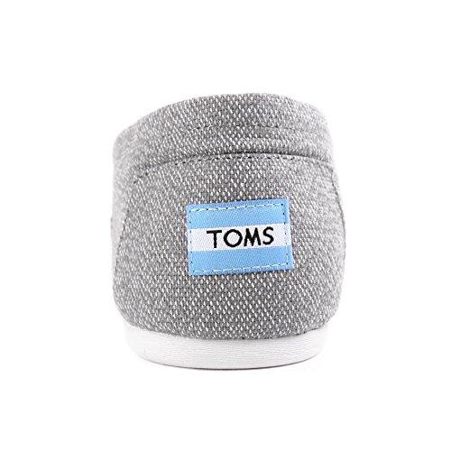 Toms Donna Classica In Lino Corda Suola Comoda E Easy-fit Slip-on Grigio / Tessuto Bianco