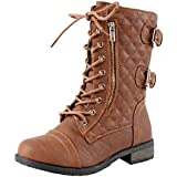 West Blvd Kano Quilted Combat Ankle Boots