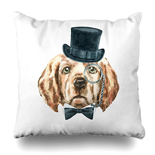 (ONELZ Golden Retriever Square Decorative Throw Pillow Case, Fashion Style Zippered Cushion Pillow Cover £¨18 x 18 inch£)