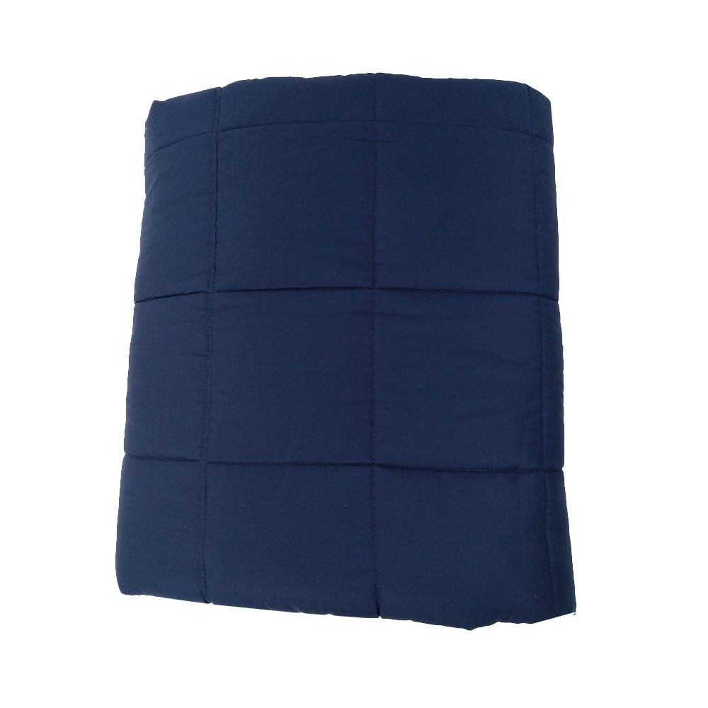 Weighted Blankets - Weighted Sensory Blankets for Children and Adults. Relief for Stress,Anxiety, ADD, ADHD and Autism (Navy, 10 lbs.)